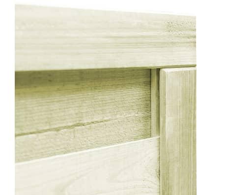vidaXL Trädgårdsgrind FSC impregnerad furu 100x75 cm grön[3/6]