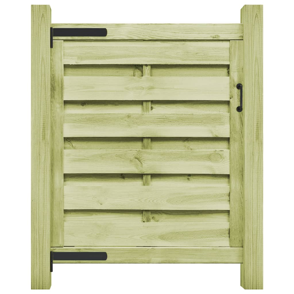 vidaXL Poartă de grădină, verde, 100 x 100 cm, lemn de pin tratat vidaxl.ro