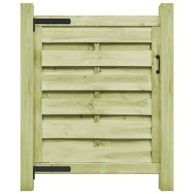 vidaXL Portillon Bois de pin imprégné FSC 100 x 100 cm Vert[1/6]