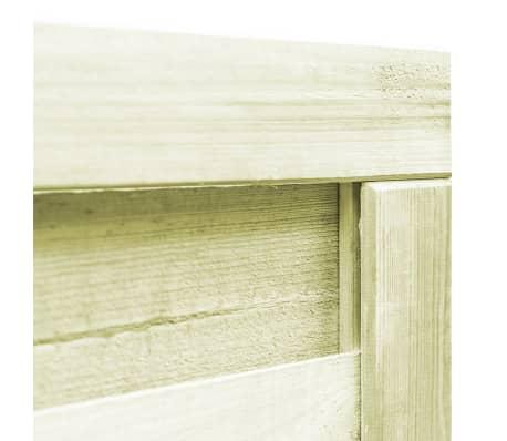 vidaXL Portillon Bois de pin imprégné FSC 100 x 100 cm Vert[3/6]
