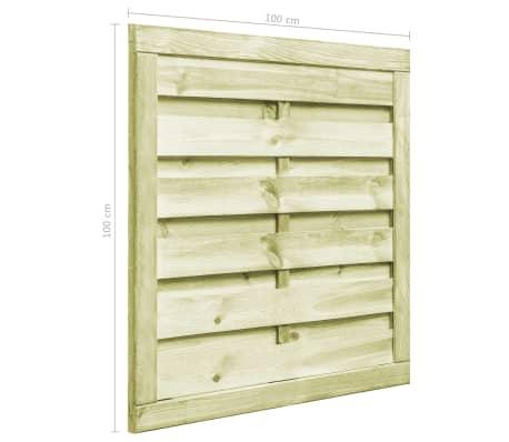 vidaXL Portillon Bois de pin imprégné FSC 100 x 100 cm Vert[5/6]