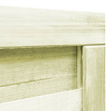 vidaXL Poort 100x100 cm FSC geïmpregneerd grenenhout groen[3/6]