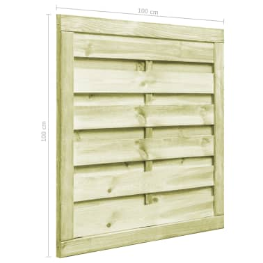 vidaXL Poort 100x100 cm FSC geïmpregneerd grenenhout groen[5/6]