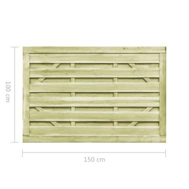 vidaXL Puutarhaportit 2kpl FSC kyllästetty mänty 150x100 cm vihreä[7/7]
