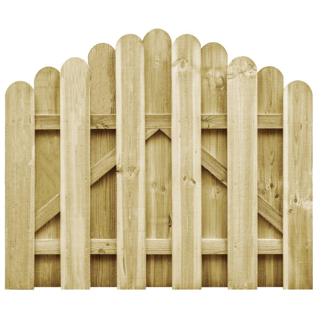 vidaXL Poartă de grădină, 100 x 75 cm, lemn de pin tratat vidaxl.ro
