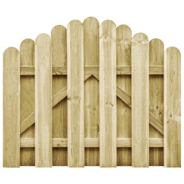 vidaXL Furtka z łukiem, impregnowane drewno sosnowe FSC, 100 x 75 cm[1/4]