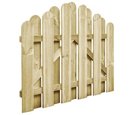 vidaXL Furtka z łukiem, impregnowane drewno sosnowe FSC, 100 x 75 cm[2/4]