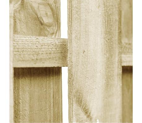 vidaXL ívelt kertkapu FSC-tanúsított impregnált fenyőből 100x75 cm[4/4]
