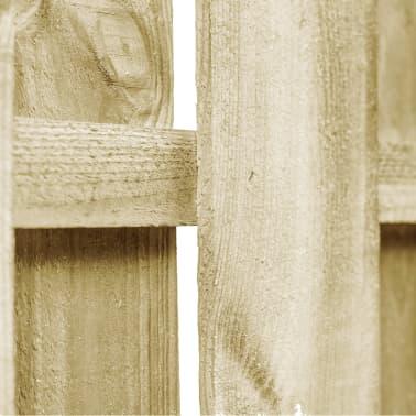 vidaXL Portail de jardin Bois pin imprégné 100x75 cm Design d