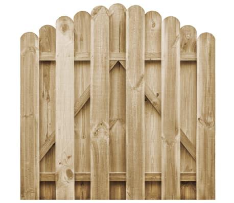 vidaXL Furtka z łukiem, impregnowane drewno sosnowe, 100 x 100 cm