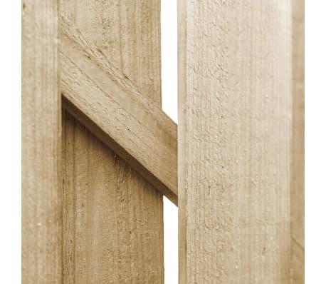 vidaXL Sodo vartai, FSC sert., impreg. puš. med., 100x100cm, ark. diz.[4/4]