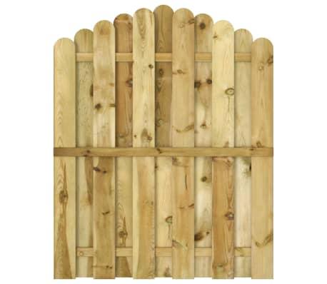 vidaXL Portail de jardin Bois de pin imprégné 100x125 cm