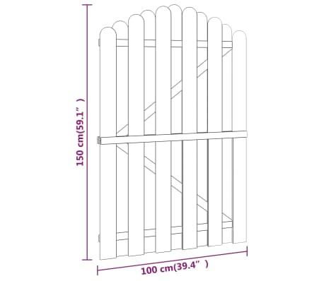 vidaXL Gartentor Imprägnierte Kiefer 100 x 150 cm Gewölbtes Design[4/4]