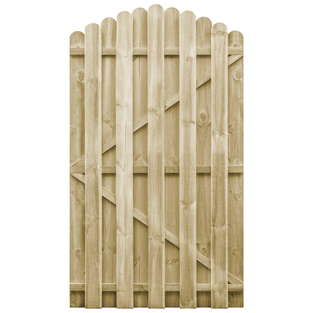 vidaXL Poartă de grădină, 100 x 175 cm, lemn de pin tratat vidaxl.ro