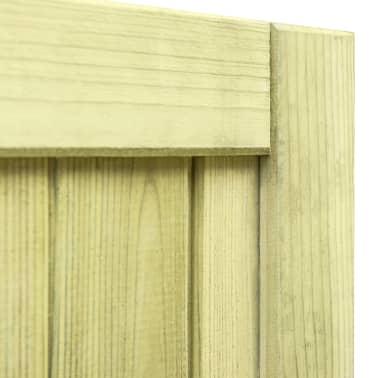 vidaXL Trädgårdsgrind FSC impregnerad furu 75x100 cm[6/7]