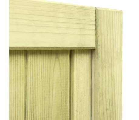 vidaXL Trädgårdsgrind FSC impregnerad furu 100x100 cm[6/7]
