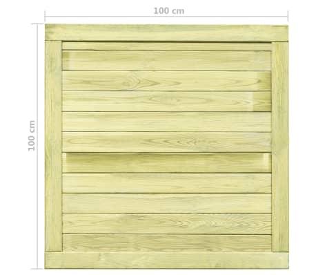 vidaXL Trädgårdsgrind FSC impregnerad furu 100x100 cm[7/7]