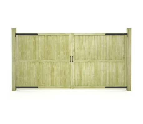 vidaXL Trädgårdsgrindar 2 st impregnerad furu 300x150 cm