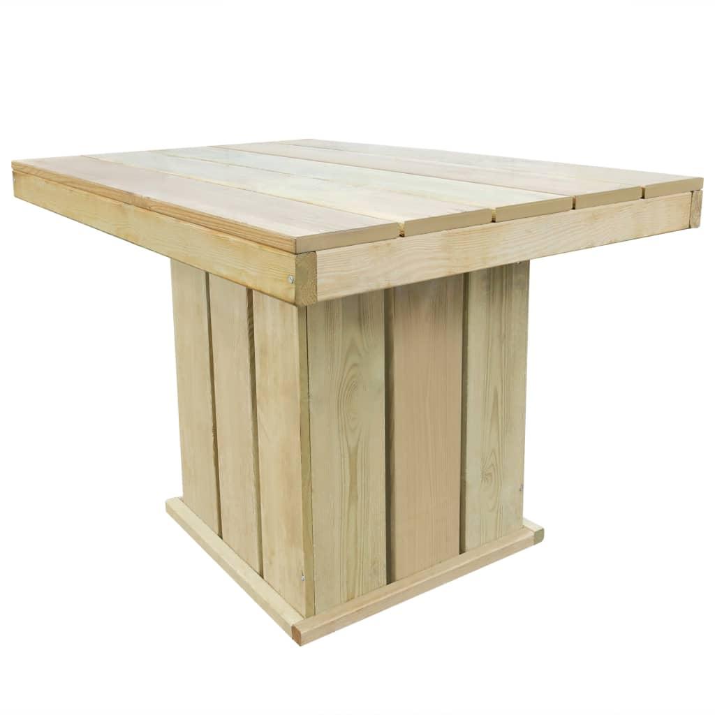 vidaXL Tuintafel 110x75x74 cm FSC geïmpregneerd grenenhout