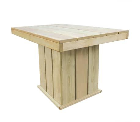 vidaXL Masă de grădină, 110 x 75 x 74 cm, lemn de pin tratat