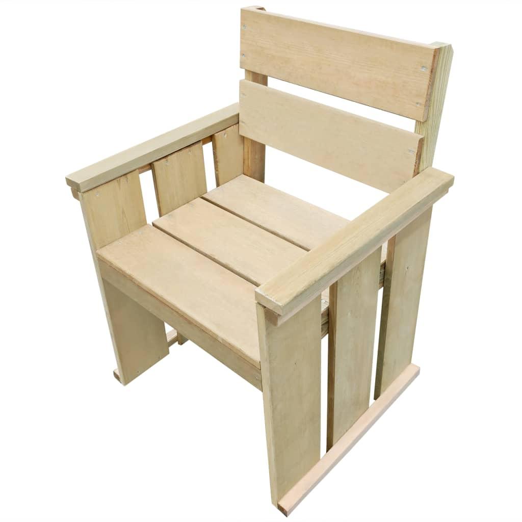 vidaXL Καρέκλα Εξωτερικού Χώρου από Εμποτισμένο Ξύλο Πεύκου