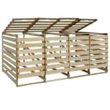 vidaXL Containerberging vierdubbel 240 L geïmpregneerd grenenhout