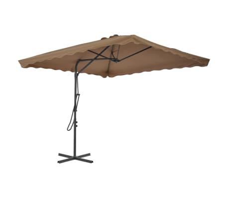 vidaXL Sonnenschirm mit Stahlmast 250 x 250 cm Taupe[2/7]