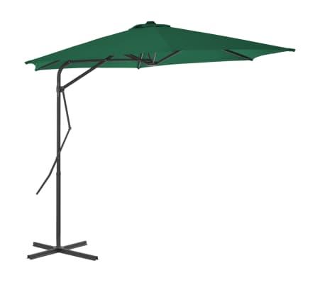 vidaXL Parasol d'extérieur avec mât en acier 300 cm Vert