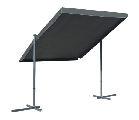 """vidaXL Gazebo with Tiltable Retractable Roof 137.8""""x99.6""""x77.2"""" Anthracite"""
