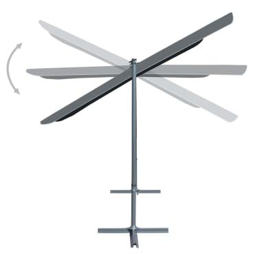 vidaXL Gazebo con Tetto Retrattile Inclinabile 350x250x225cm Antracite[4/7]