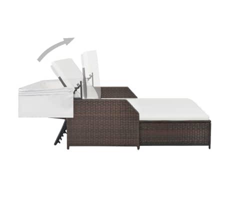 vidaxl 2 personen sonnenliege mit sonnendach poly rattan. Black Bedroom Furniture Sets. Home Design Ideas