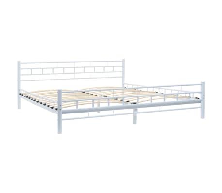 vidaXL Bed Frame White Metal 183x203 cm