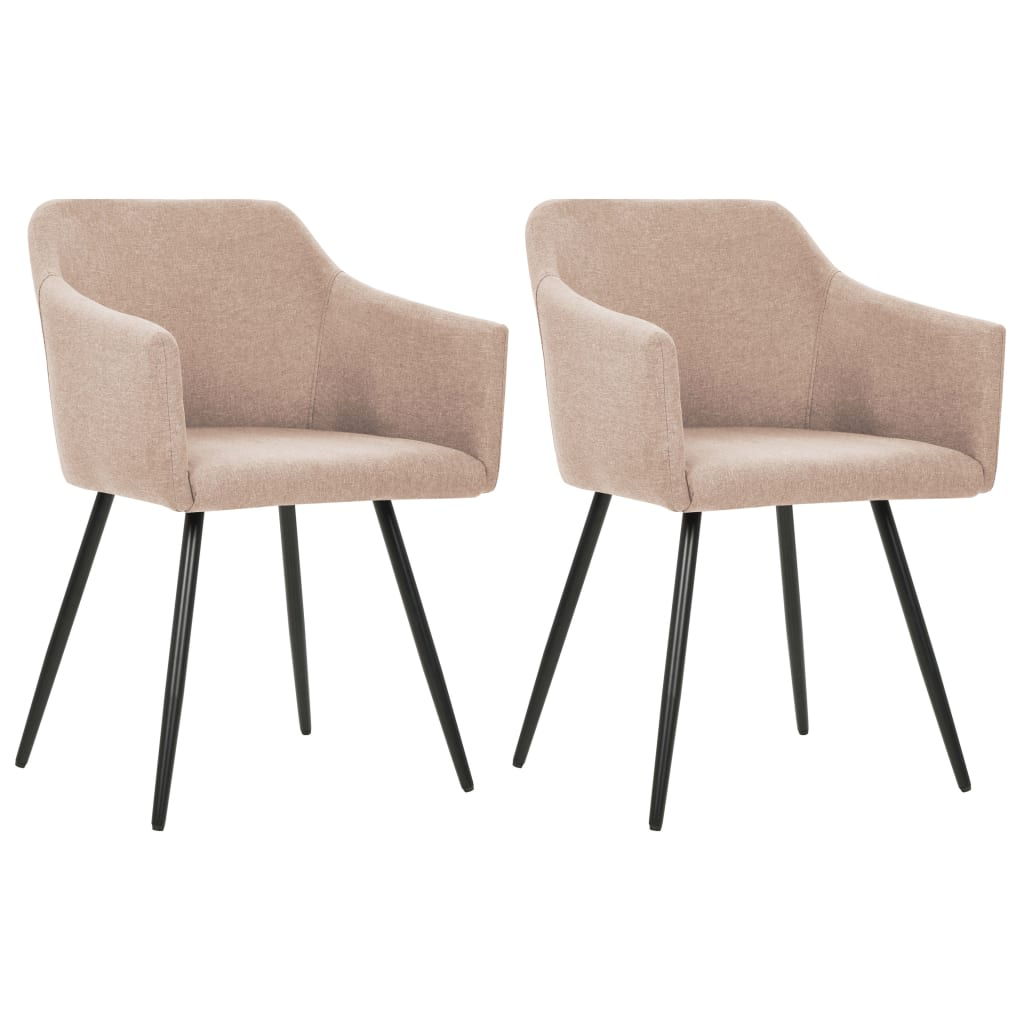 vidaXL Καρέκλες Τραπεζαρίας 2 τεμ. Χρώμα Taupe Υφασμάτινες