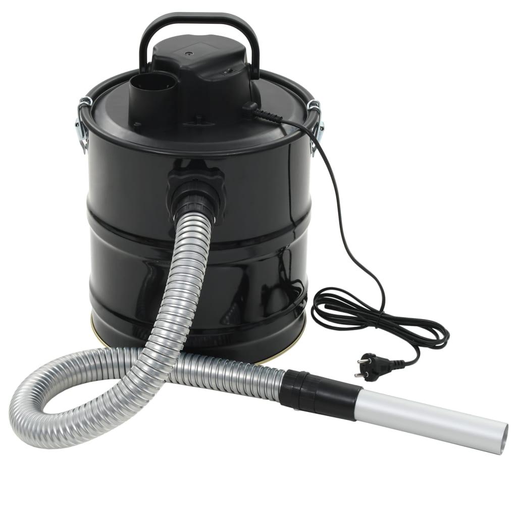 vidaXL Vysavač na popel s HEPA filtrem 1000 W 20 l černý