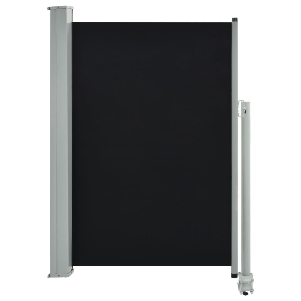 vidaXL Σκίαστρο Πλαϊνό Συρόμενο Βεράντας Μαύρο 120 x 300 εκ.