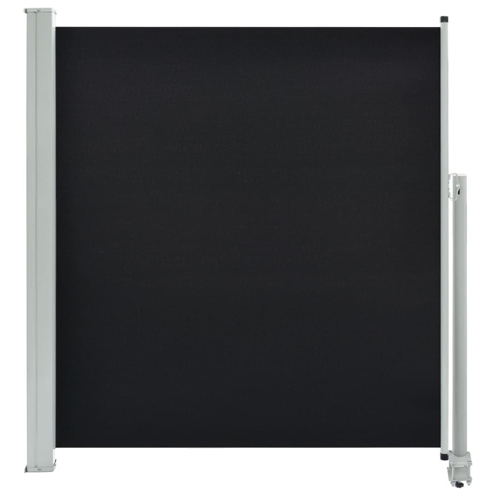vidaXL Σκίαστρο Πλαϊνό Συρόμενο Βεράντας Μαύρο 140 x 300 εκ.