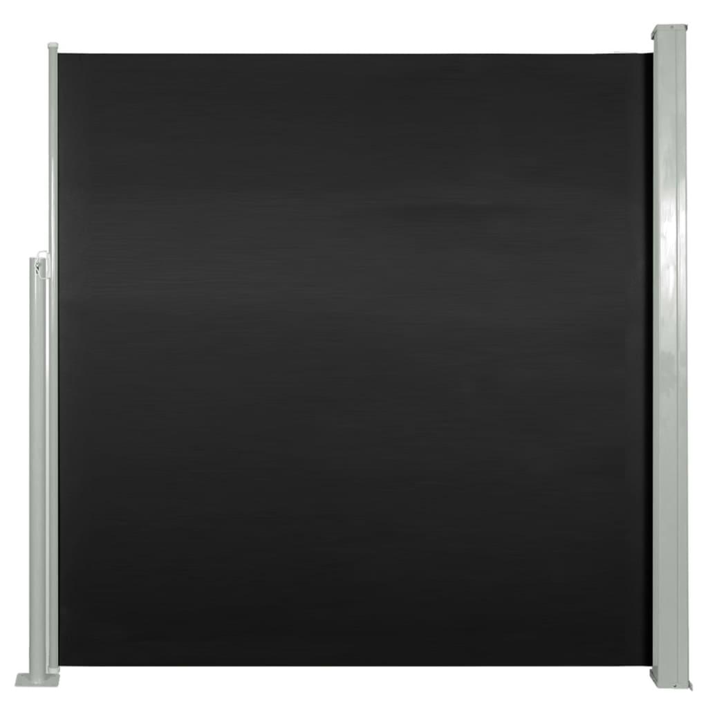 vidaXL Σκίαστρο Πλαϊνό Συρόμενο Μαύρο 140 x 300 εκ.