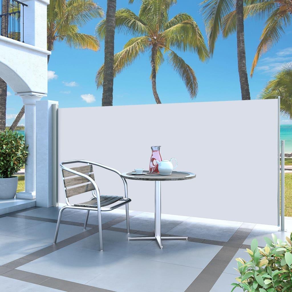 vidaXL Zatahovací boční markýza / zástěna 140 x 300 cm krémová