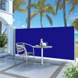 vidaXL Ausziehbare Seitenmarkise 140 x 300 cm Blau