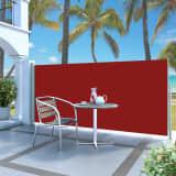 vidaXL Windscherm uittrekbaar 140x300 cm rood