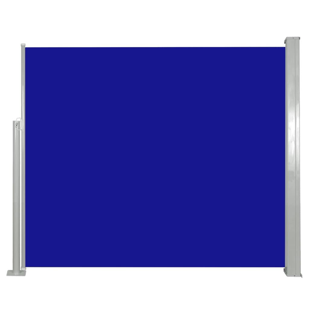 vidaXL Σκίαστρο Πλαϊνό Συρόμενο Μπλε 120 x 300 εκ.