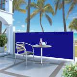 vidaXL Infällbar sidomarkis 120 x 300 cm blå