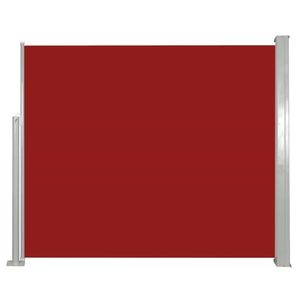 vidaXL Σκίαστρο Πλαϊνό Συρόμενο Κόκκινο 120 x 300 εκ.