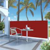 vidaXL Infällbar sidomarkis 120 x 300 cm röd