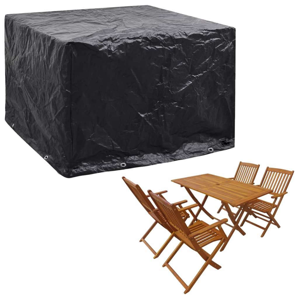 vidaXL Husă mobilier grădină, 8 ocheți, 122 x 112 x 98 cm poza 2021 vidaXL