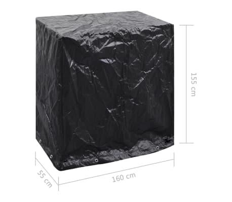vidaXL Sodo baldų/teniso stalo uždangalas, 160x55x182cm, 8 kilputės[7/7]
