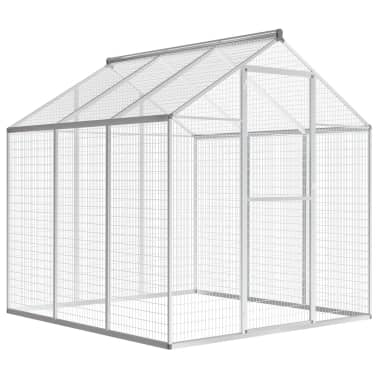 """vidaXL Outdoor Aviary Aluminium 72""""x70.1""""x76.4""""[1/8]"""