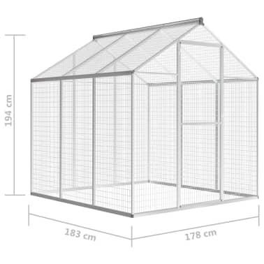 """vidaXL Outdoor Aviary Aluminium 72""""x70.1""""x76.4""""[5/8]"""
