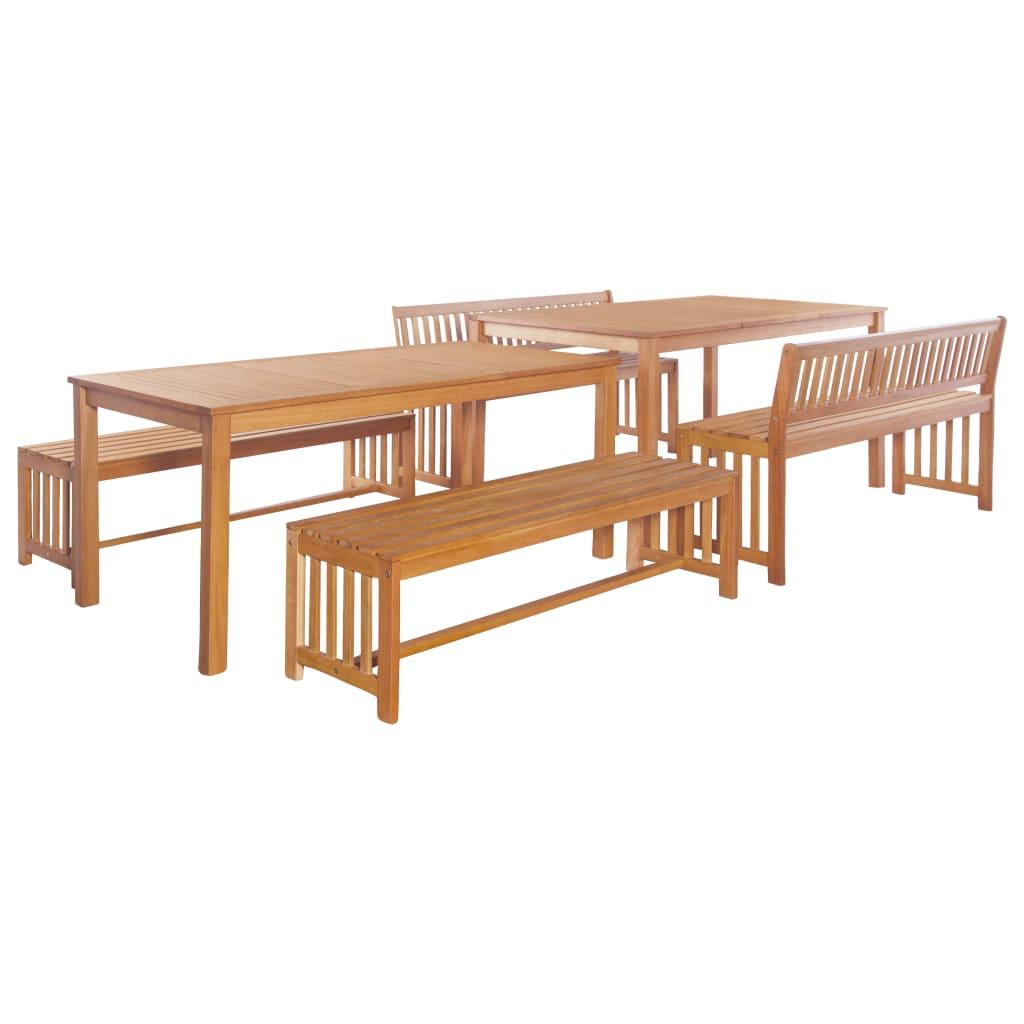 vidaXL 6-cz. zestaw mebli ogrodowych, lite drewno eukaliptusowe