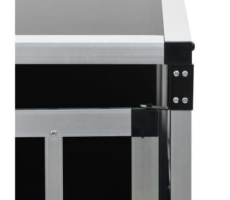 "vidaXL Dog Cage with Single Door 25.6""x35.8""x27.4""[9/11]"